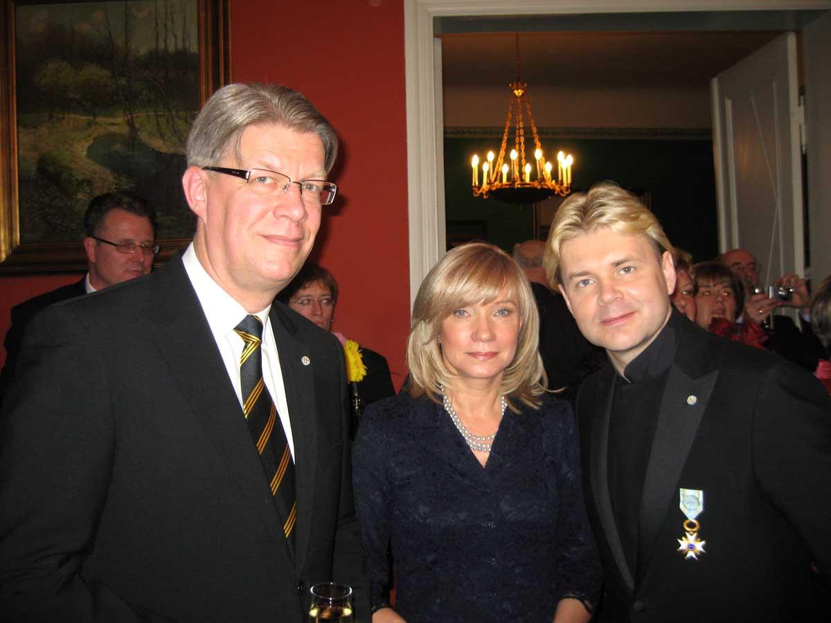 Андрис Лиепа награжден Орденом Трех звезд IV степени